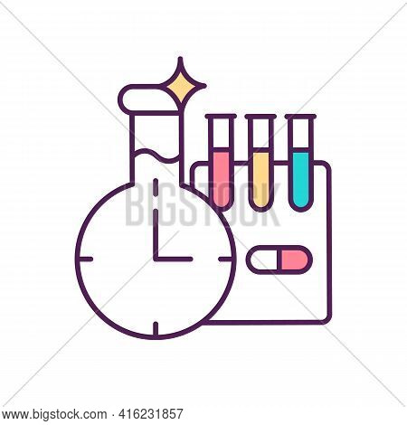 Pharmaceutical Manufacturing Rgb Color Icon. Laboratory Preparations, Reagents. Drug Production. Che