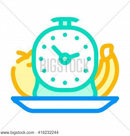 Food By Hour Color Icon Vector. Food By Hour Sign. Isolated Symbol Illustration