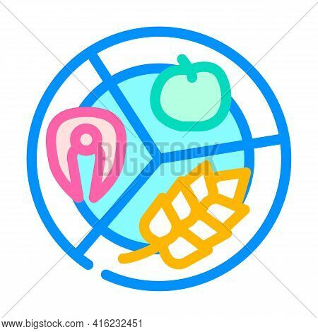 Separate Food Color Icon Vector. Separate Food Sign. Isolated Symbol Illustration
