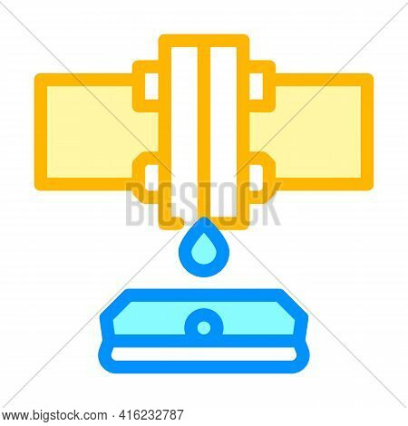 Water Sensor Color Icon Vector. Water Sensor Sign. Isolated Symbol Illustration