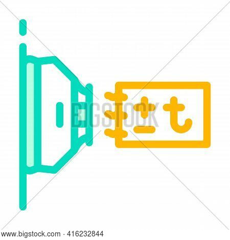 Thermal Sensor Color Icon Vector. Thermal Sensor Sign. Isolated Symbol Illustration