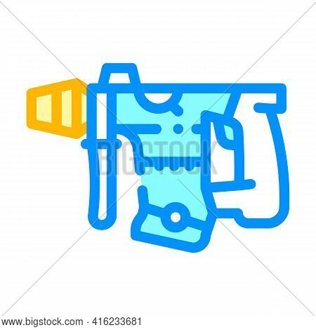 Perforator Tool Color Icon Vector. Perforator Tool Sign. Isolated Symbol Illustration