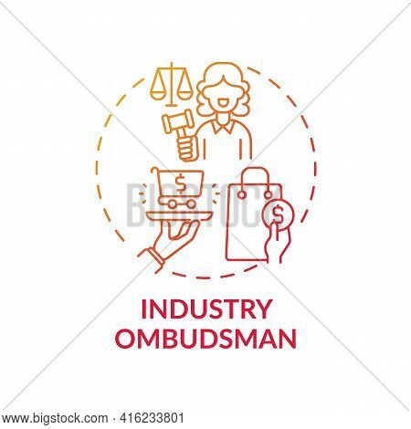 Industry Ombudsman Concept Icon. Consumer Protection Service Idea Thin Line Illustration. Complaints