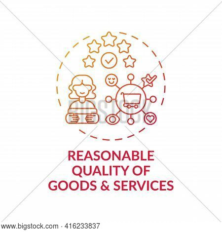 Reasonable Goods And Services Quality Concept Icon. Consumer Right Idea Thin Line Illustration. Deli