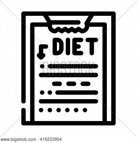 Description Diet Line Icon Vector. Description Diet Sign. Isolated Contour Symbol Black Illustration
