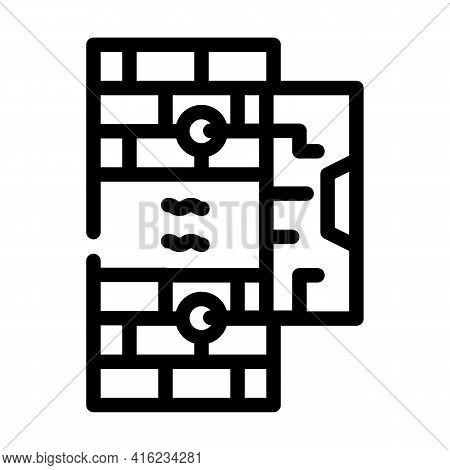 Vibration Sensor Line Icon Vector. Vibration Sensor Sign. Isolated Contour Symbol Black Illustration