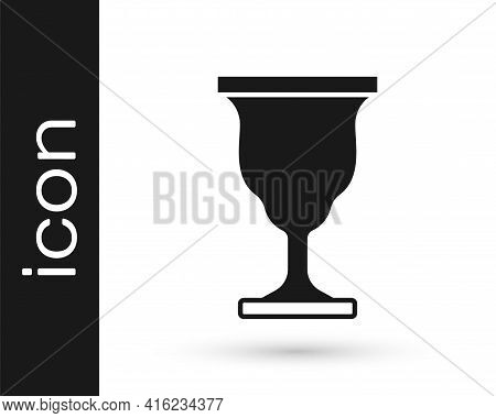 Black Christian Chalice Icon Isolated On White Background. Christianity Icon. Happy Easter. Vector