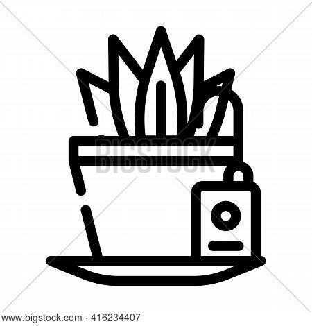 Plant Watering Sensor Line Icon Vector. Plant Watering Sensor Sign. Isolated Contour Symbol Black Il