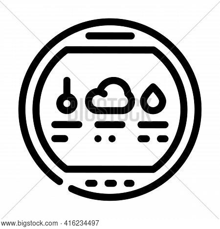 Thermohygrometer Tool Line Icon Vector. Thermohygrometer Tool Sign. Isolated Contour Symbol Black Il