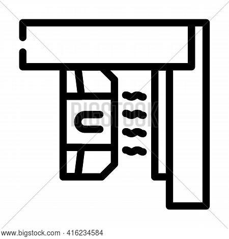 Magnetic Sensor Line Icon Vector. Magnetic Sensor Sign. Isolated Contour Symbol Black Illustration