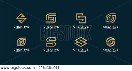 Letter S Logo Design Vector Bundle Collection For Branding Company. Logo Can Be Used For Icon, Brand