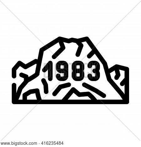 Date Of Last Eruption Line Icon Vector. Date Of Last Eruption Sign. Isolated Contour Symbol Black Il