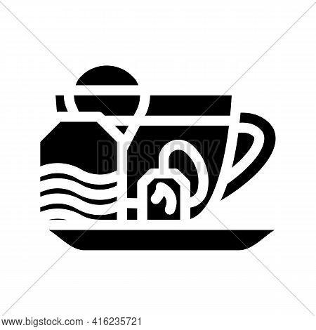 Fat Burning Tea Glyph Icon Vector. Fat Burning Tea Sign. Isolated Contour Symbol Black Illustration