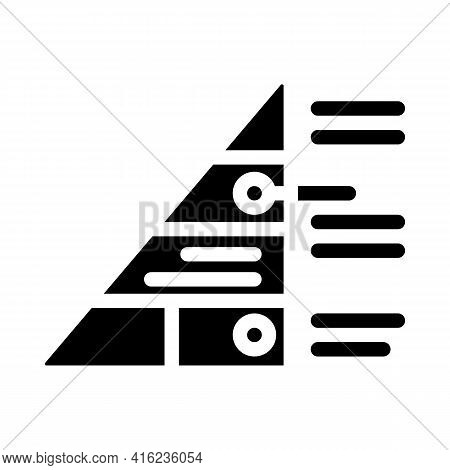 Pyramid Maslow Glyph Icon Vector. Pyramid Maslow Sign. Isolated Contour Symbol Black Illustration