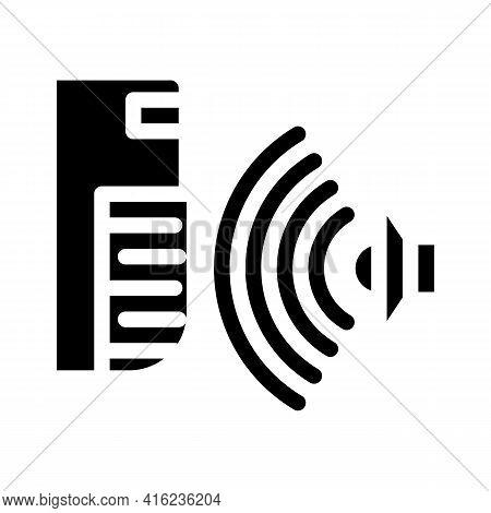 Sound Sensor Glyph Icon Vector. Sound Sensor Sign. Isolated Contour Symbol Black Illustration