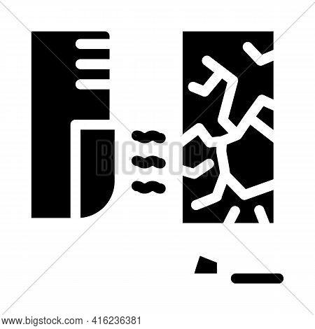 Glass Break Sensor Glyph Icon Vector. Glass Break Sensor Sign. Isolated Contour Symbol Black Illustr