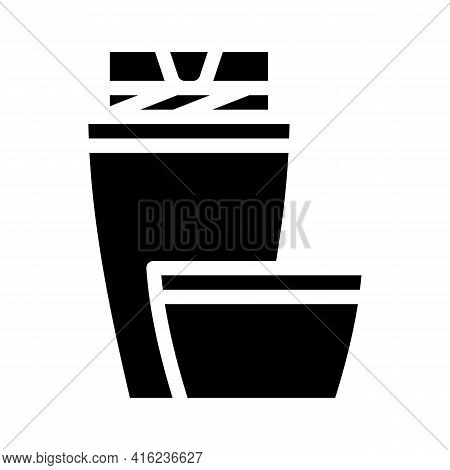 Thermos Tool Glyph Icon Vector. Thermos Tool Sign. Isolated Contour Symbol Black Illustration