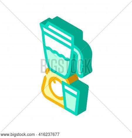 Smoothie Drink Isometric Icon Vector. Smoothie Drink Sign. Isolated Symbol Illustration