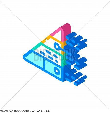 Pyramid Maslow Isometric Icon Vector. Pyramid Maslow Sign. Isolated Symbol Illustration