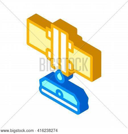 Water Sensor Isometric Icon Vector. Water Sensor Sign. Isolated Symbol Illustration