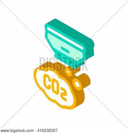 Co2 Sensor Isometric Icon Vector. Co2 Sensor Sign. Isolated Symbol Illustration