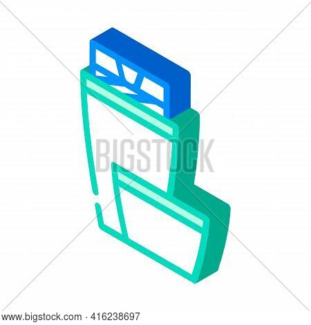 Thermos Tool Isometric Icon Vector. Thermos Tool Sign. Isolated Symbol Illustration