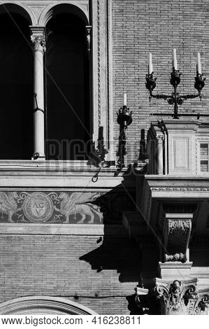 External Lamps Of Museo Delle Cere Di Roma . Rome, Italy