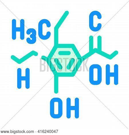 Formula Food Additives Color Icon Vector. Formula Food Additives Sign. Isolated Symbol Illustration