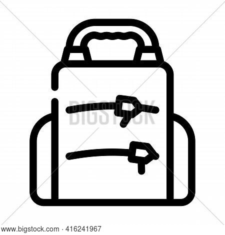 Backpack Lunchbox Line Icon Vector. Backpack Lunchbox Sign. Isolated Contour Symbol Black Illustrati