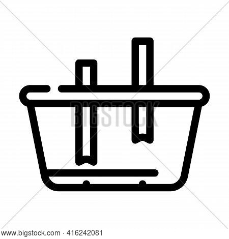Lunchbox Constructor Line Icon Vector. Lunchbox Constructor Sign. Isolated Contour Symbol Black Illu