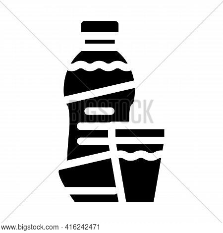 Syrup Canned Food Glyph Icon Vector. Syrup Canned Food Sign. Isolated Contour Symbol Black Illustrat