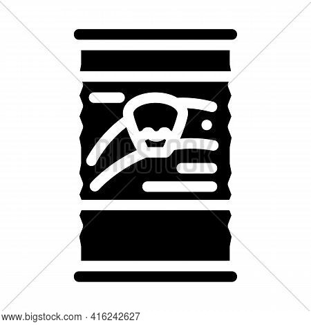 Corn Canned Food Glyph Icon Vector. Corn Canned Food Sign. Isolated Contour Symbol Black Illustratio