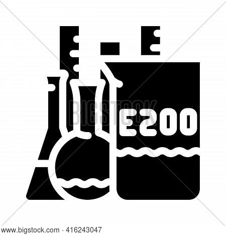 Chemical Inventory Food Additives Glyph Icon Vector. Chemical Inventory Food Additives Sign. Isolate