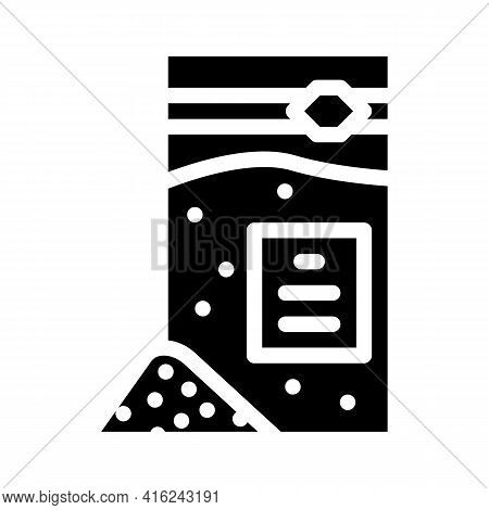 Sodium Benzoate Glyph Icon Vector. Sodium Benzoate Sign. Isolated Contour Symbol Black Illustration