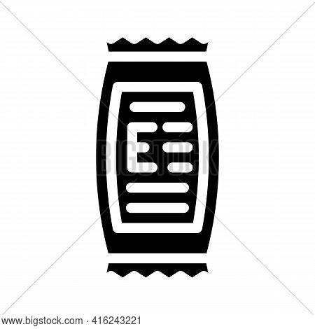 Description Of Food Additives Glyph Icon Vector. Description Of Food Additives Sign. Isolated Contou