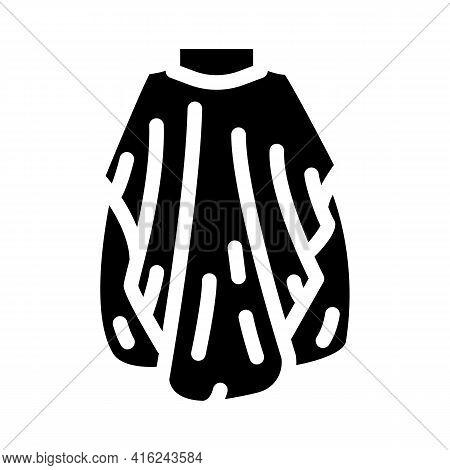 Cape Of Haircuts Glyph Icon Vector. Cape Of Haircuts Sign. Isolated Contour Symbol Black Illustratio