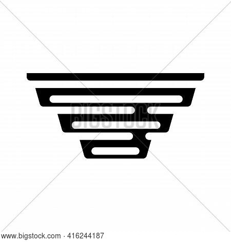 Folding Lunchbox Glyph Icon Vector. Folding Lunchbox Sign. Isolated Contour Symbol Black Illustratio