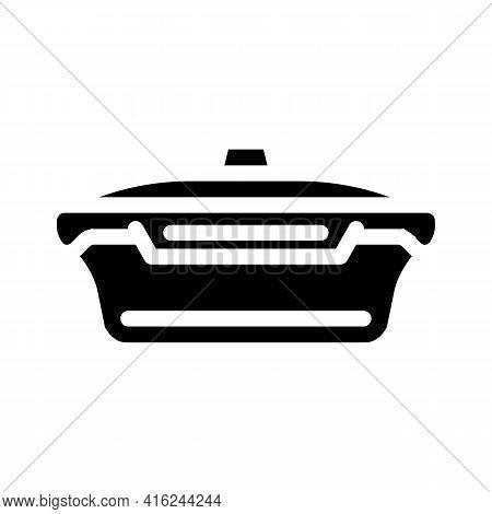 Vacuum Lunchbox Glyph Icon Vector. Vacuum Lunchbox Sign. Isolated Contour Symbol Black Illustration