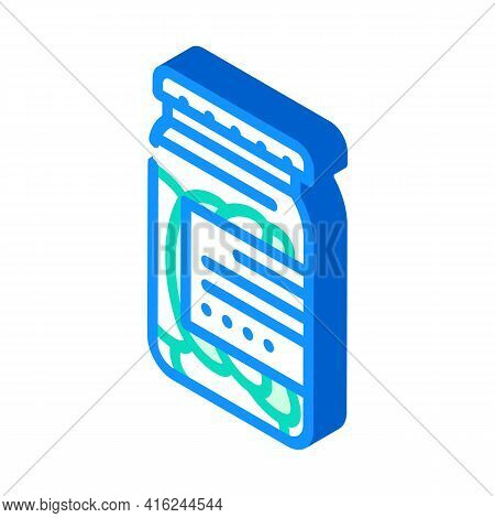 Salted Cucumbers Canned Food Isometric Icon Vector. Salted Cucumbers Canned Food Sign. Isolated Symb