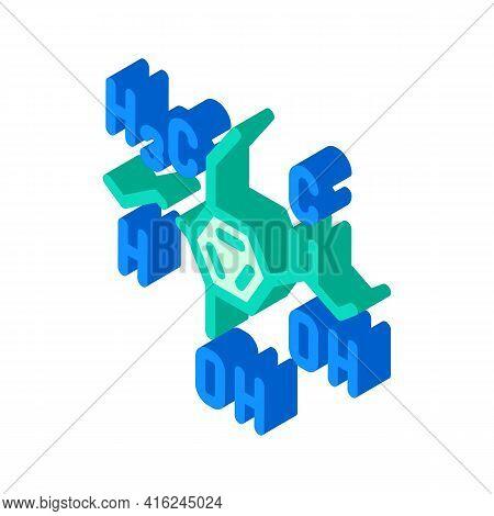 Formula Food Additives Isometric Icon Vector. Formula Food Additives Sign. Isolated Symbol Illustrat