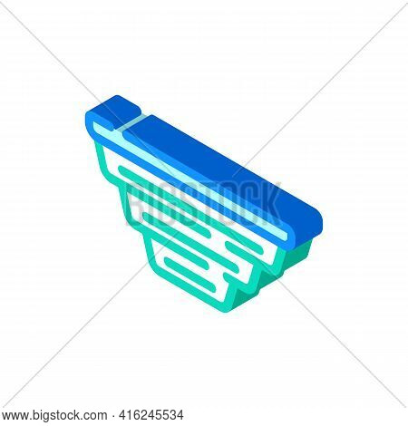 Folding Lunchbox Isometric Icon Vector. Folding Lunchbox Sign. Isolated Symbol Illustration