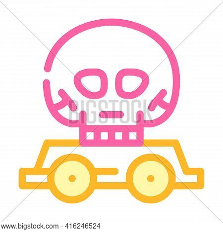 Day Of Dead Event Color Icon Vector. Day Of Dead Event Sign. Isolated Symbol Illustration