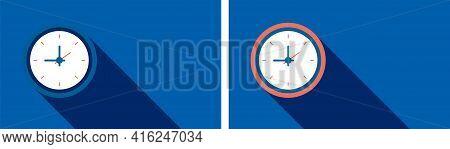 Clock Background Design. Clock Background With Blue Color. Clock Vector Design. Unique Clock Backgro