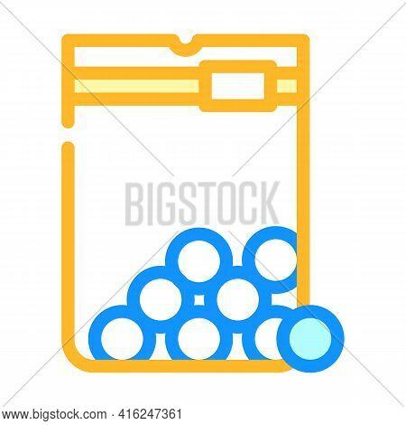 Sugar Balls Sweetener Color Icon Vector. Sugar Balls Sweetener Sign. Isolated Symbol Illustration