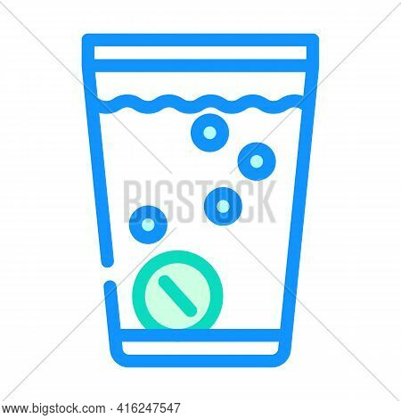 Water Soluble Pills Color Icon Vector. Water Soluble Pills Sign. Isolated Symbol Illustration