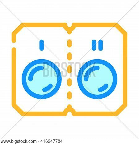 Pills That Divided Into Two Doses Color Icon Vector. Pills That Divided Into Two Doses Sign. Isolate