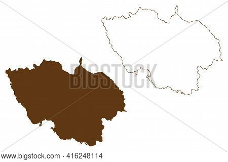 Regen District (federal Republic Of Germany, Rural District Lower Bavaria, Free State Of Bavaria) Ma