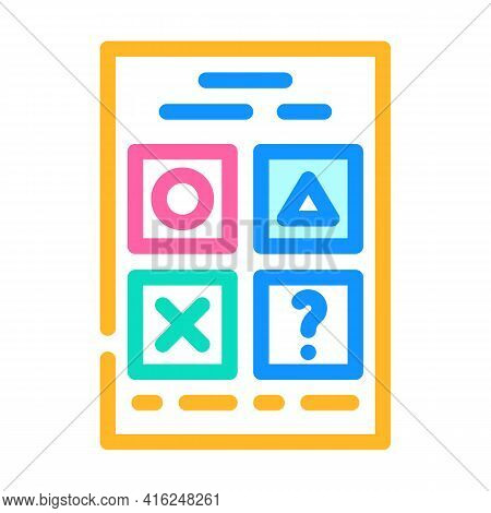 Testing For Self Study Color Icon Vector. Testing For Self Study Sign. Isolated Symbol Illustration