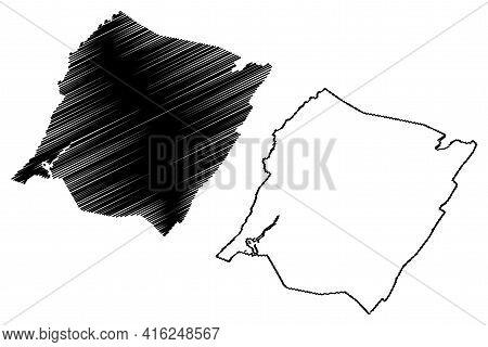 Bath County, Commonwealth Of Virginia (u.s. County, United States Of America, Usa, U.s., Us) Map Vec