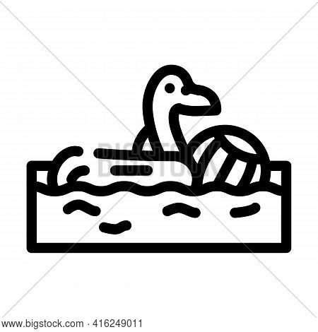 Pool Party Event Line Icon Vector. Pool Party Event Sign. Isolated Contour Symbol Black Illustration
